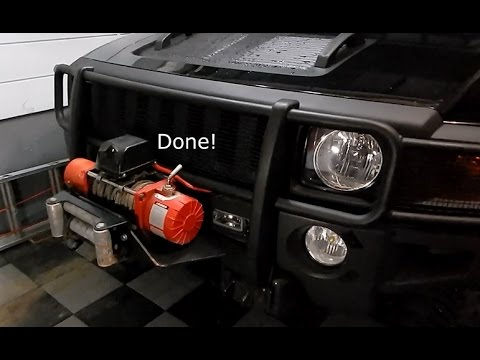 How To Install a Winch on Hummer H3 using HighMount