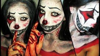 Killer Clown Halloween Makeup Tutorial