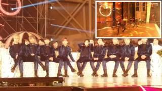 getlinkyoutube.com-EXO reaction to BTS Blood Sweat and Tears (피땀눈물) & Fire (불타오르네) @ Melon Music Awards 2016