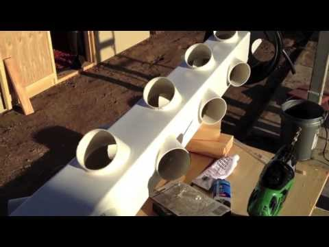 Building a hydroponic vertical garden