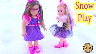 getlinkyoutube.com-Snow Play Boots + Dresses Clothing Review for American Girl + My Life As Cupcake Baker Doll