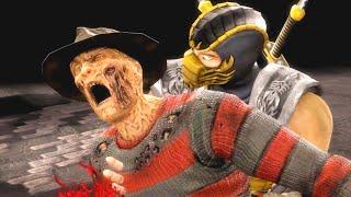 getlinkyoutube.com-Mortal Kombat IX Scorpion (Costume 2) Performs All Character Fatalities PC 60FPS 1080p
