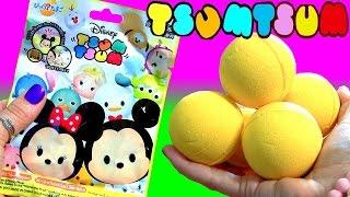 getlinkyoutube.com-10 Disney Tsum Tsum Bath Bomb Surprise FULL CASE Disney Frozen Elsa Olaf ディズニーツムツム バスボール ×10