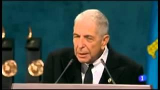 Discurso de Leonard Cohen (subtitulado al español) - Premio Príncipe de Asturias