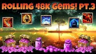 Castle Clash Rolling 48k Gems! Pt.3
