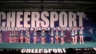 getlinkyoutube.com-Jersey All Stars Lime Junior 3 - 1st Place - Cheersport, Oaks PA  12/14/13