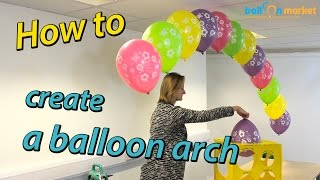 getlinkyoutube.com-How To Make a Balloon Arch with Helium