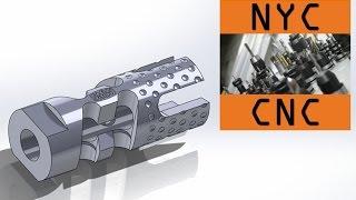 getlinkyoutube.com-Gimme a Brake! Machining a DIY CNC 9MM AR-15 Muzzle Brake! 4th Axis Machining Video!