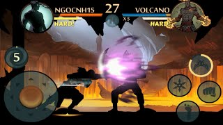 getlinkyoutube.com-Shadow Fight 2 - Defeated Volcano with amazing power | Underworld updated