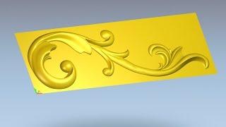 getlinkyoutube.com-Подготовка в Adobe Photoshop моделирование в ArtCAM завиток