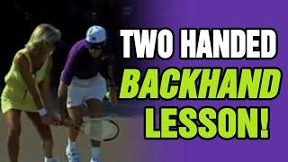 getlinkyoutube.com-Tennis - Improve Your Two-Handed Backhand, Prevent Hitting Long | Tom Avery Tennis 239.592.5920