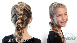 getlinkyoutube.com-How To: French Braid/Dutch Braid Combo | Pretty Hair is Fun
