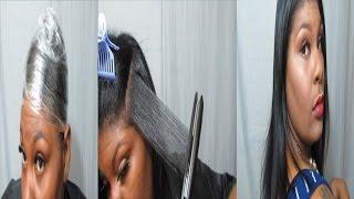 getlinkyoutube.com-Natural Hair | SILK WRAP | No Heat Damage or Reversion | Jessibaby901