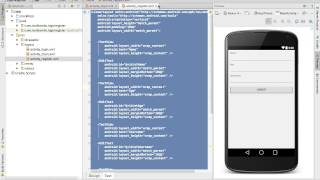 getlinkyoutube.com-Android Studio Tutorial - Login and Register Part 1 - User Interface