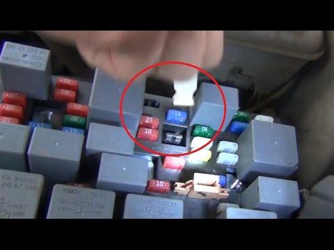 Видео по замене предохранителя фары 15А в монтажном блоке под капотом KIA - Spectra
