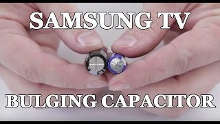 getlinkyoutube.com-Samsung TV Won't Turn On - How to Repair Bulging Capacitor for Clicking Noise