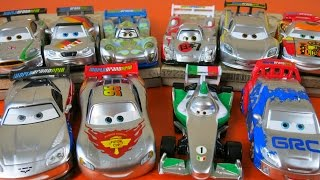 getlinkyoutube.com-DISNEY PIXAR CARS SILVER METALLIC RACERS CARS 2 WORLD GRAND PRIX