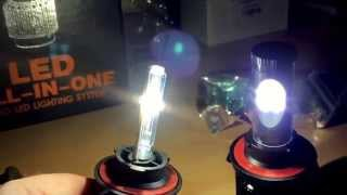 getlinkyoutube.com-9000 lumen All-in-one led headlight conversion kits. 160w