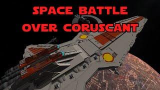 getlinkyoutube.com-KSP - Star Wars Space Battle over Coruscant