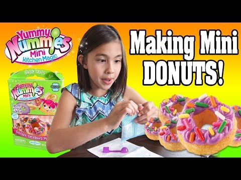 YUMMY NUMMIES KITCHEN MAGIC!!! Making Mini Donuts with Water!