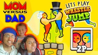 getlinkyoutube.com-Lets Play WRESTLE JUMP!  MOM vs. DAD : You May Now Wrestle The Bride! (FGTEEV Gameplay)