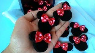 getlinkyoutube.com-cara membuat bros minie mouse gulung dari kain flanel