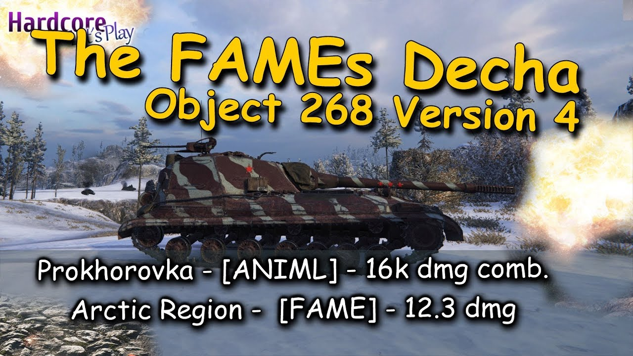 WOT  The FAMEs Decha again in action   16k comb bonus game  Object 268 Version 4 WORLD OF TANKS