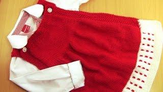 getlinkyoutube.com-تريكو يدوي -طريقة سهلة لعمل فستان جميل للبنات -(الجزء الأول)