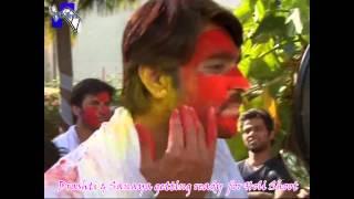 getlinkyoutube.com-Drashti & Sanaya enjoying Holi Shoot