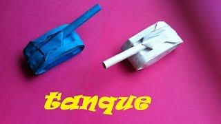 getlinkyoutube.com-Origami - Papiroflexia. Tanque, muy fácil.