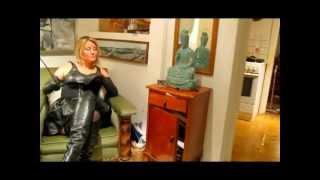 getlinkyoutube.com-Black leather mistress