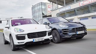 getlinkyoutube.com-Porsche Cayenne Turbo vs. Macan Turbo