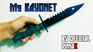 getlinkyoutube.com-Как сделать Штык Нож М9 из CS:GO| How to make a M9 Bayonet of CS: GO
