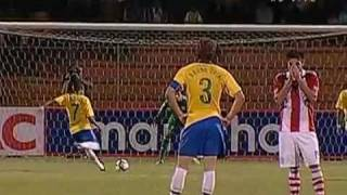 Os gols de Brasil 4 x 2 Paraguai pelo Sul Americano Sub 20
