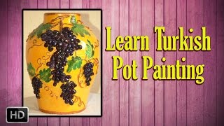 getlinkyoutube.com-Learn Pot Painting - Turkish Pot Painting - Basic Painting Techniques