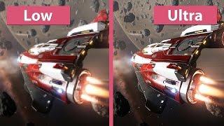 Elite: Dangerous – PC Low vs. Ultra Graphics Comparison [60fps][FullHD]