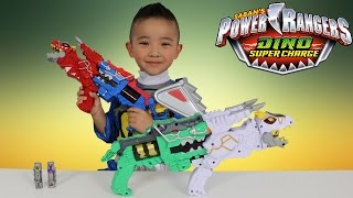 getlinkyoutube.com-Power Rangers Dino Super Charge Limited Edition T-Rex Morpher Toys Unboxing Fun Ckn Toys