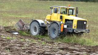 getlinkyoutube.com-K-700 + Odessa ader künd / Ploughing with K-700 and Odessa`s plow