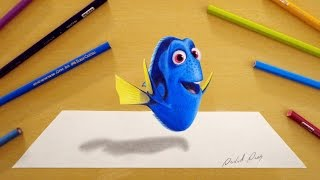 getlinkyoutube.com-3D Drawing: Dory | Finding Dory