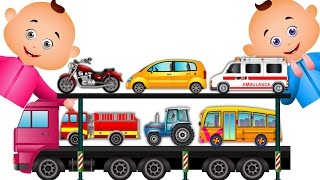 getlinkyoutube.com-Learn Transport Vehicles & Many More For Children | JamJammies Nursery Rhymes| Kids Songs Collection