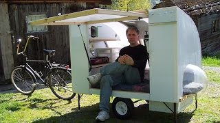 getlinkyoutube.com-Bugout bicycle camper