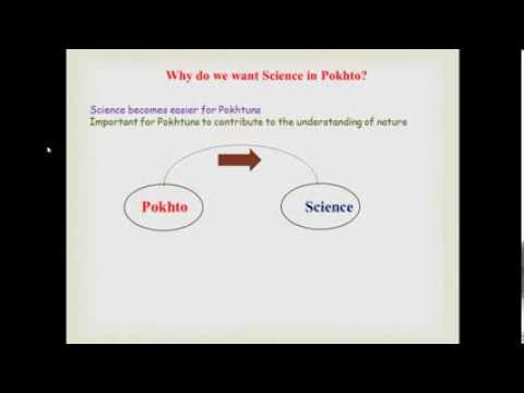 Why Science In Pokhto?