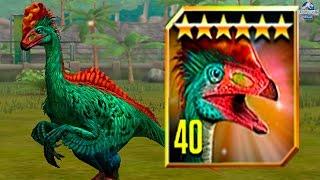getlinkyoutube.com-FEEDING ERLIKOSAURUS TO MAX LVL 40! - Jurassic World The Game - *TOURNAMENT DINO* HD