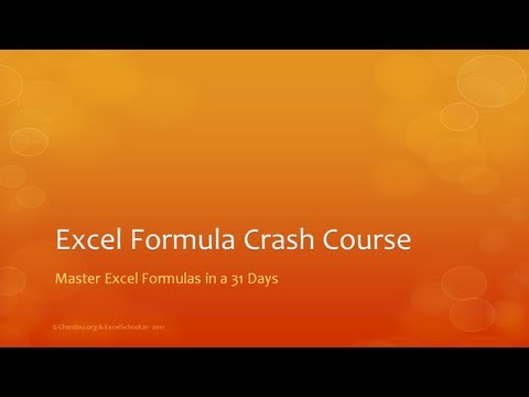 Excel Formula Crash Course - What is it and how it works