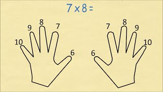 getlinkyoutube.com-Always Remember Your Times Table (6 to 10) Using Finger Multiplication