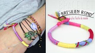 DIY - TUTO : BRACELET BRESILIEN ROND - BRACELET DE L AMITIE ateba/ Hippie Gyspie Friendship bracelet