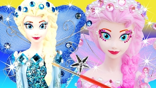 getlinkyoutube.com-VOTE 2 FROZEN ELSA FAIRIES Blue or Pinkie Pearl CHOOSE YOUR FAVORITE Glitter Wings Paint Your Own