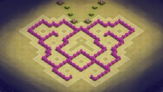 getlinkyoutube.com-Clash of Clans - TH6 Trophy and Clan War Base (Butterfly)