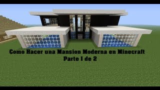 getlinkyoutube.com-Como Hacer una Mansion Moderna en Minecraft parte 1