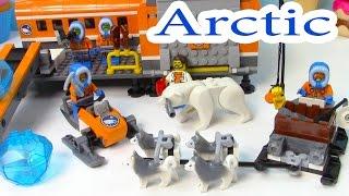 getlinkyoutube.com-Arctic Base Camp Playset Lego City Snow Ice Crystals Polar Bear Husky Dogs Sled Cookieswirlc